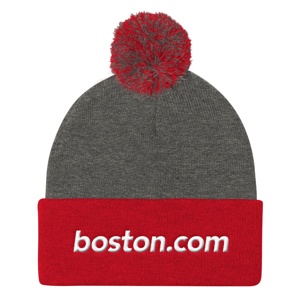 Boston.com Pom Pom Knit Cap