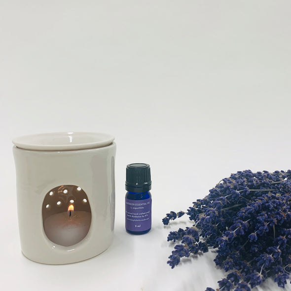 Essential Oil Burner & Lavender Oil
