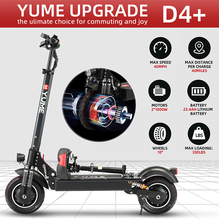YUME D4+ ELECTRIC SCOOTER 40MPH 2000W