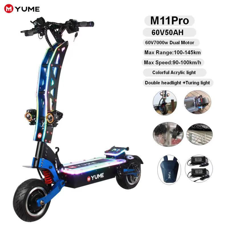 M11 PRO ELECTRIC SCOOTER 59MPH 7000W - YUME ELECTRIC SCOOTER