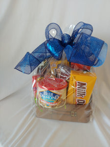 Travel Themed Gift Box filled with goodies
