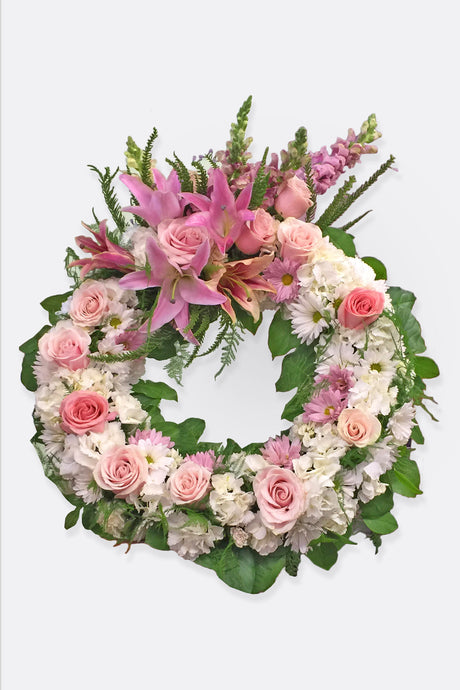 Rose and Daisy Sympathy Wreath