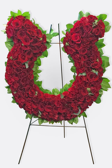Red Rose Sympathy Wreath