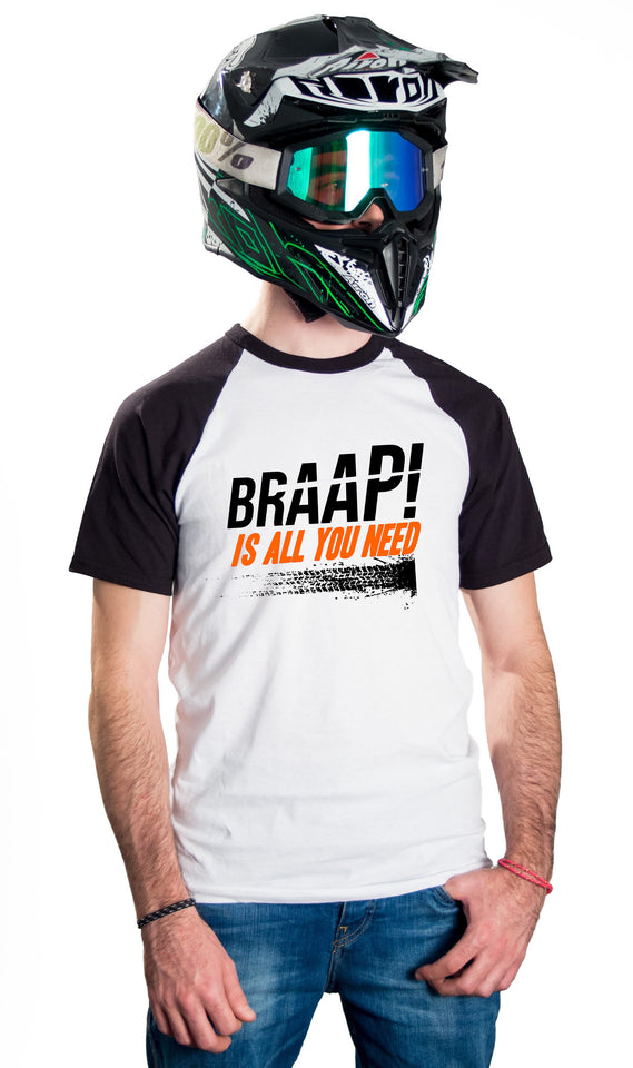 BRAAP! IS ALL YOU NEED - BASEBALL T-SHIRTS
