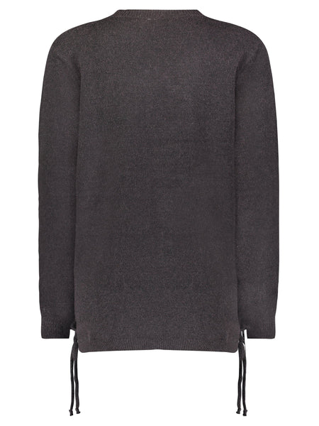 image of Lyon Lace-up sides Sweater Back
