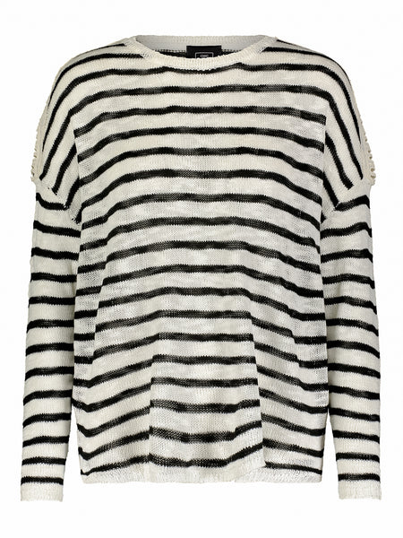 Sherwood Dolman Sleeve Stripe Top