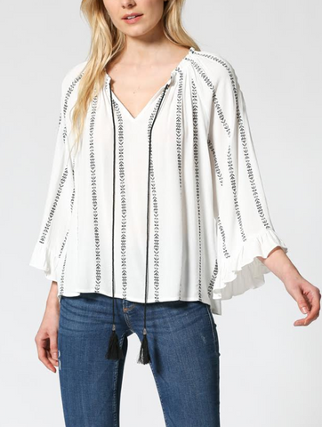 Cite Radieuse Tassel Tie Top