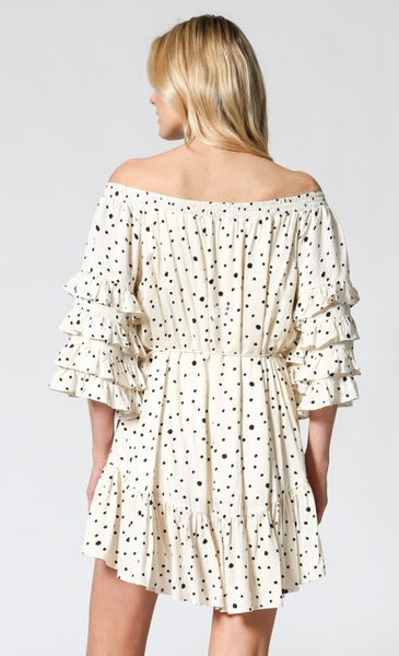 Palais du Pharo Off-Shoulder Dress