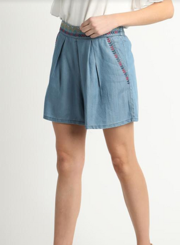 Panier Embroidered Waistband Shorts