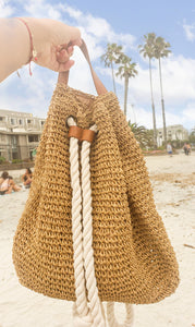 Martigues Straw Backpack