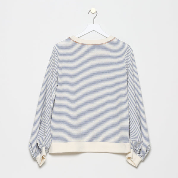 Chateau d'If Striped Crewneck French Terry Sweater