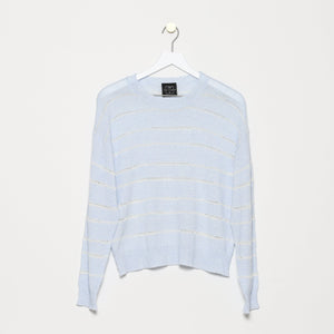 Roucas-Blanc Pointelle Slub Sweater