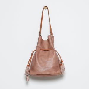 Francine Cinch Bucket Tote with Suede Tassels