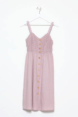 Bompard Cotton Button Front Dress