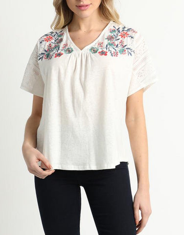 Le Silo Embroidered Top