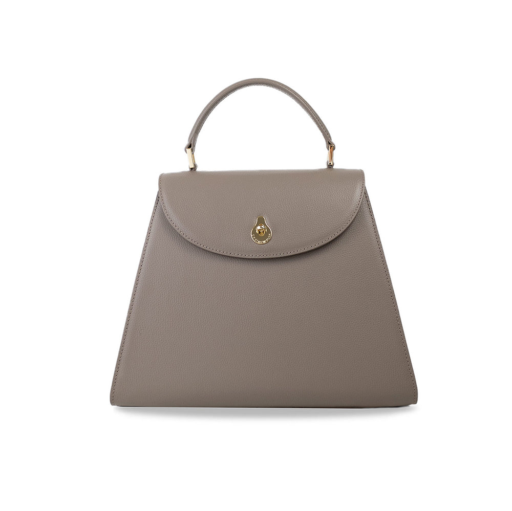 MEDIUM CALLA SATCHEL - BEIGE