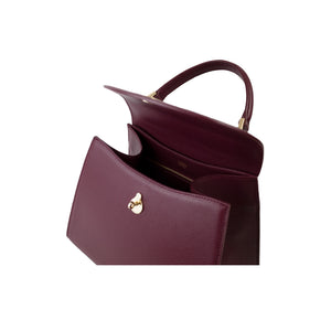 MEDIUM CALLA SATCHEL - BURGUNDY