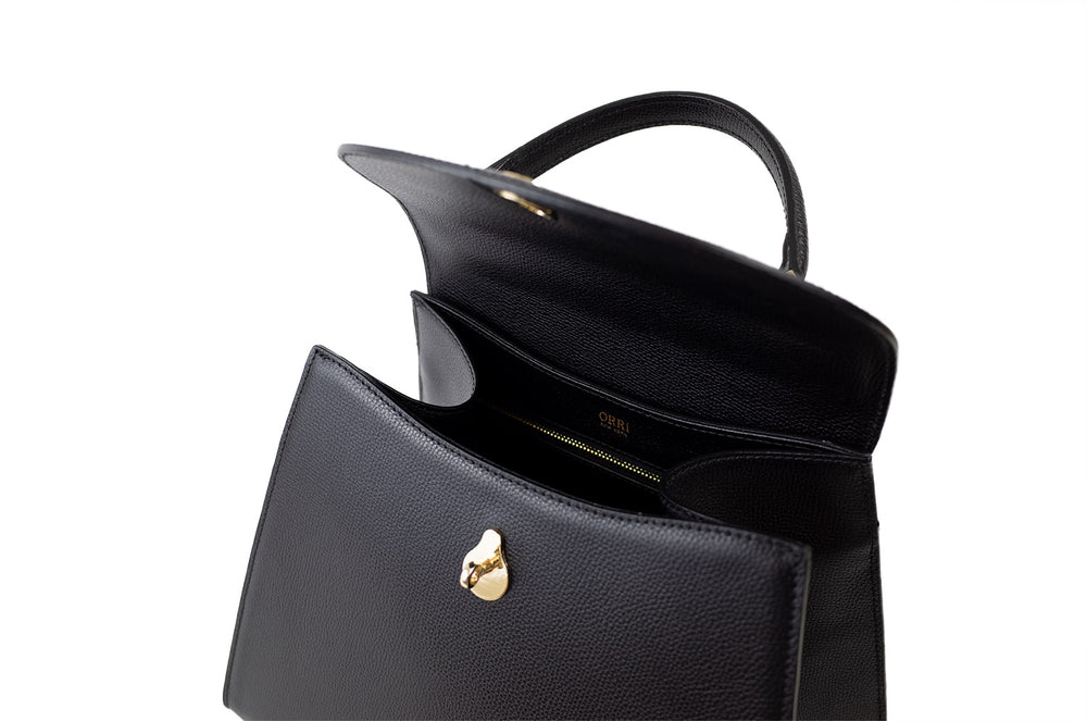 MEDIUM CALLA SATCHEL - BLACK
