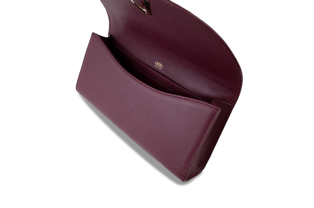 SILENE CLUTCH - BURGUNDY