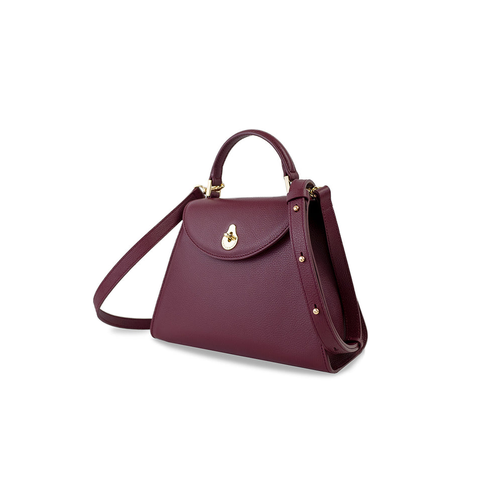 SMALL CALLA SATCHEL - BURGUNDY