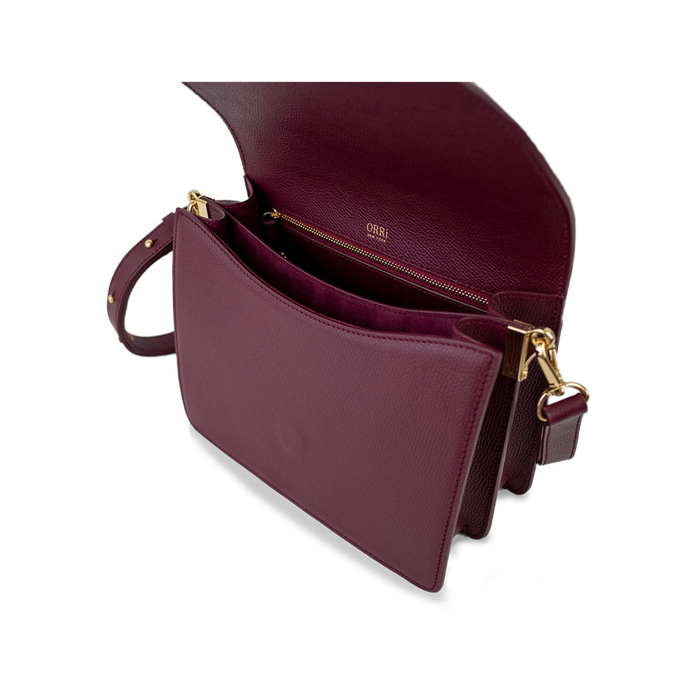 DAHLIA CROSSBODY - BURGUNDY