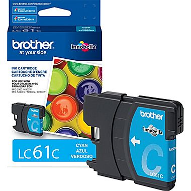 Cartouche d'encre Brother LC61 Cyan (325 pages)
