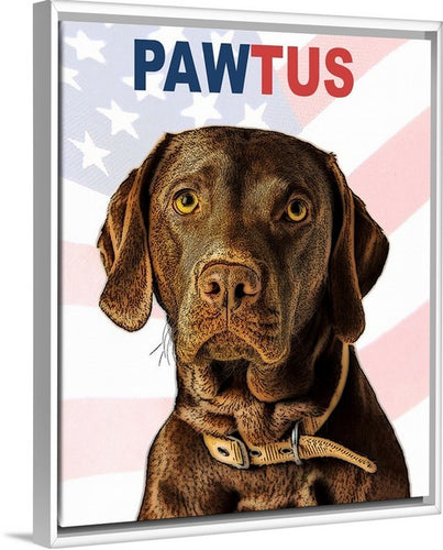 Limited Edition PAWTUS Solid-Faced Canvas Wrap (incl. Frame)