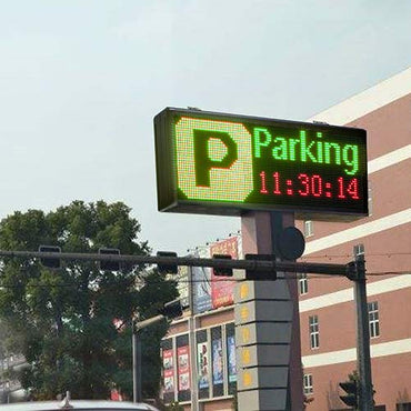 Double Sided Parking Sign Programmable by WiFi, 3 Colors