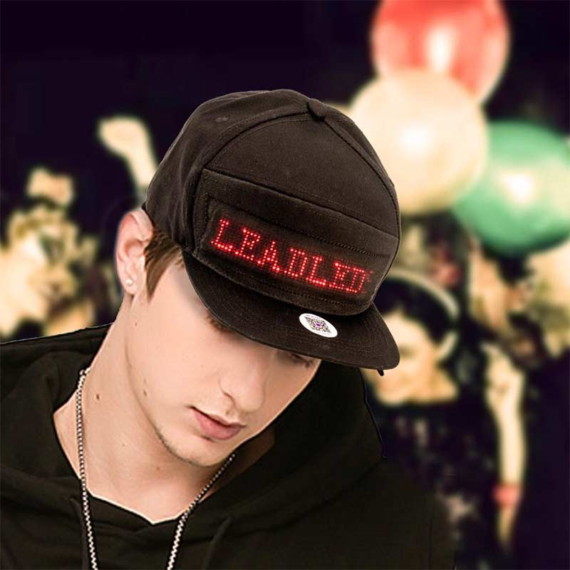 Leadleds Hats for Men Baseball Trucker Halloween Birthday New Year's Christmas Party Hat