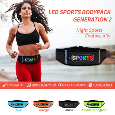 Running Running Led Sports Bodypack With Scrolling Led Sign Cool Security