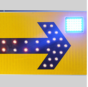 Leadleds 47in Solar Powered Road Narrow Sign Waterproof Warning Sign Light-dependent Control