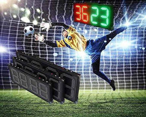 Led Scoreboard Referee Substitution Boards Portable Rechargeable, Double Sides Display Different Content