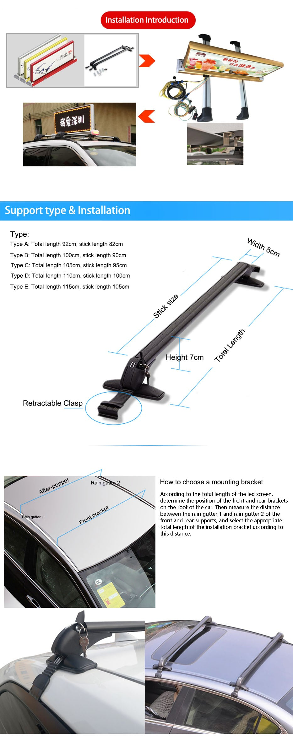 Roof Racks Crossbars Aluminum Alloy Car Roof Rack With Locking Car Storage Tools for All Car