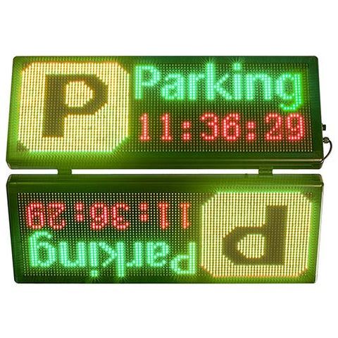 double sided parking signs outdoor