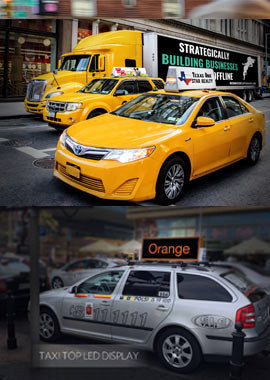 taxi top advertising
