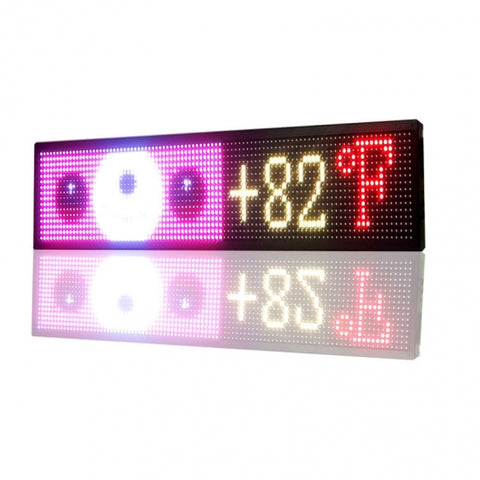 iOS Outdoor Signs with Temperature Sensor Multicolor Yard Signs