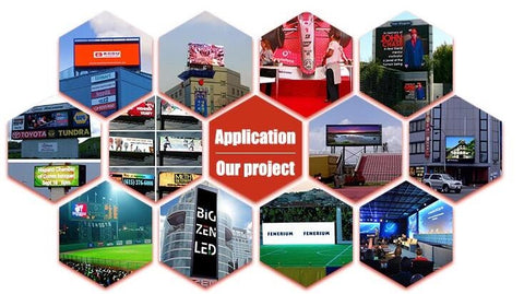 Leadleds 40 x 54in Led Sign Board Outdoor Video Screen Super Bright by WiFi Program