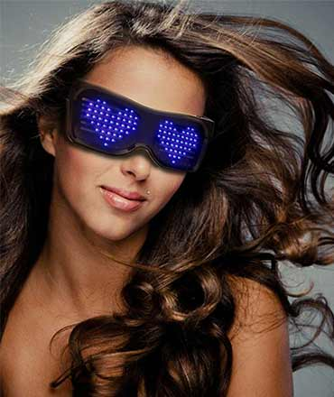 bluetooth led glasses