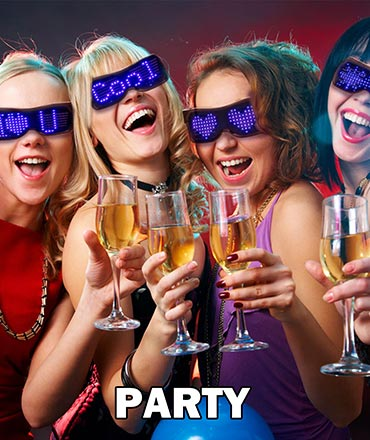 led glasses for party