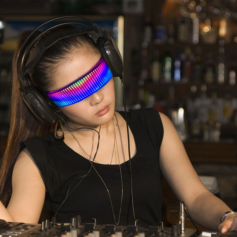 led glasses full color programmable