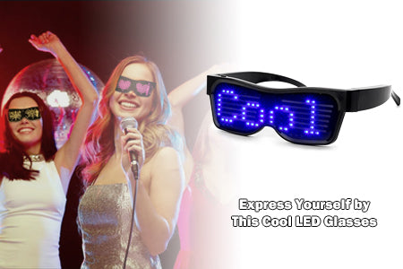 led light glasses for party