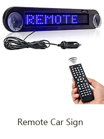 remote car sign