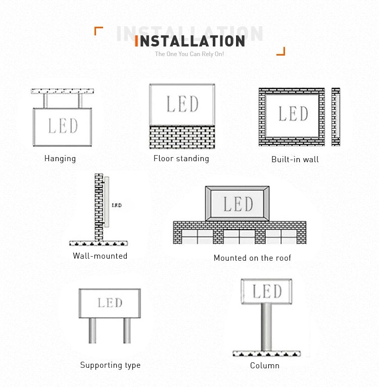 installation the led video screen