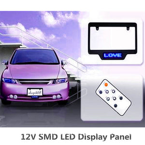 New DC 12V SMD LED Car Sign Programmable Display Digital LED License Plate Frame LED Display Board