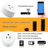 Smart Plug Wifi Outlet Compatible With Alexa, Echo, Google Home, Leadleds Mini Smart Socket with Timer Function, No Hub Required, 10A (2 pack) - Leadleds
