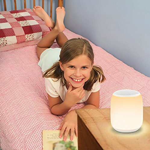 Leadleds Bedside Lamp with Wireless Bluetooth Speaker, Portable Smart LED Touch Control Table Lamp Dimmable RGB Multi-Color Changing Night Light - Leadleds