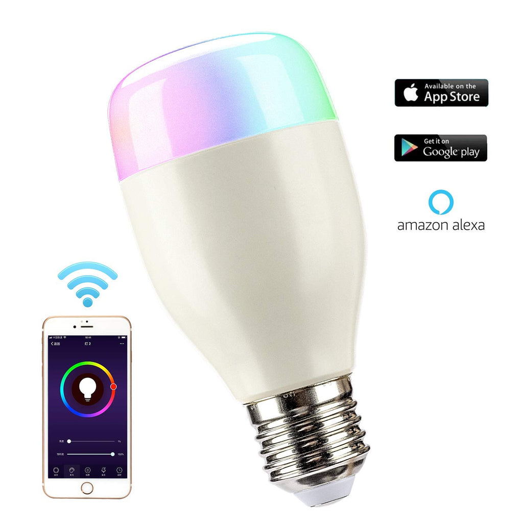 Leadleds Smart Led Bulb Dimmable Multicolored Phone Controlled, Compatible with Alexa, Google Home - Leadleds