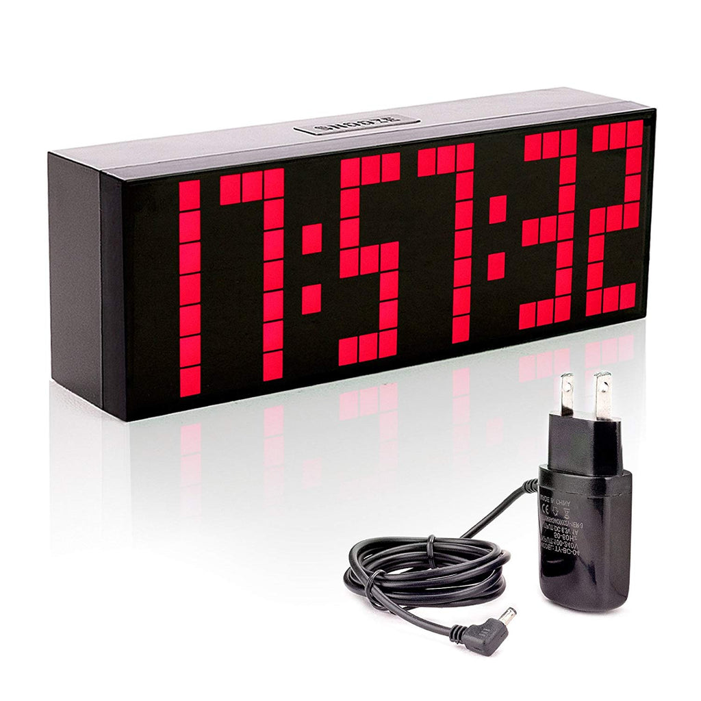 Leadleds LED Digital Alarm Clock LED Snooze with Countdown Timer Calendar Temperature - Leadleds