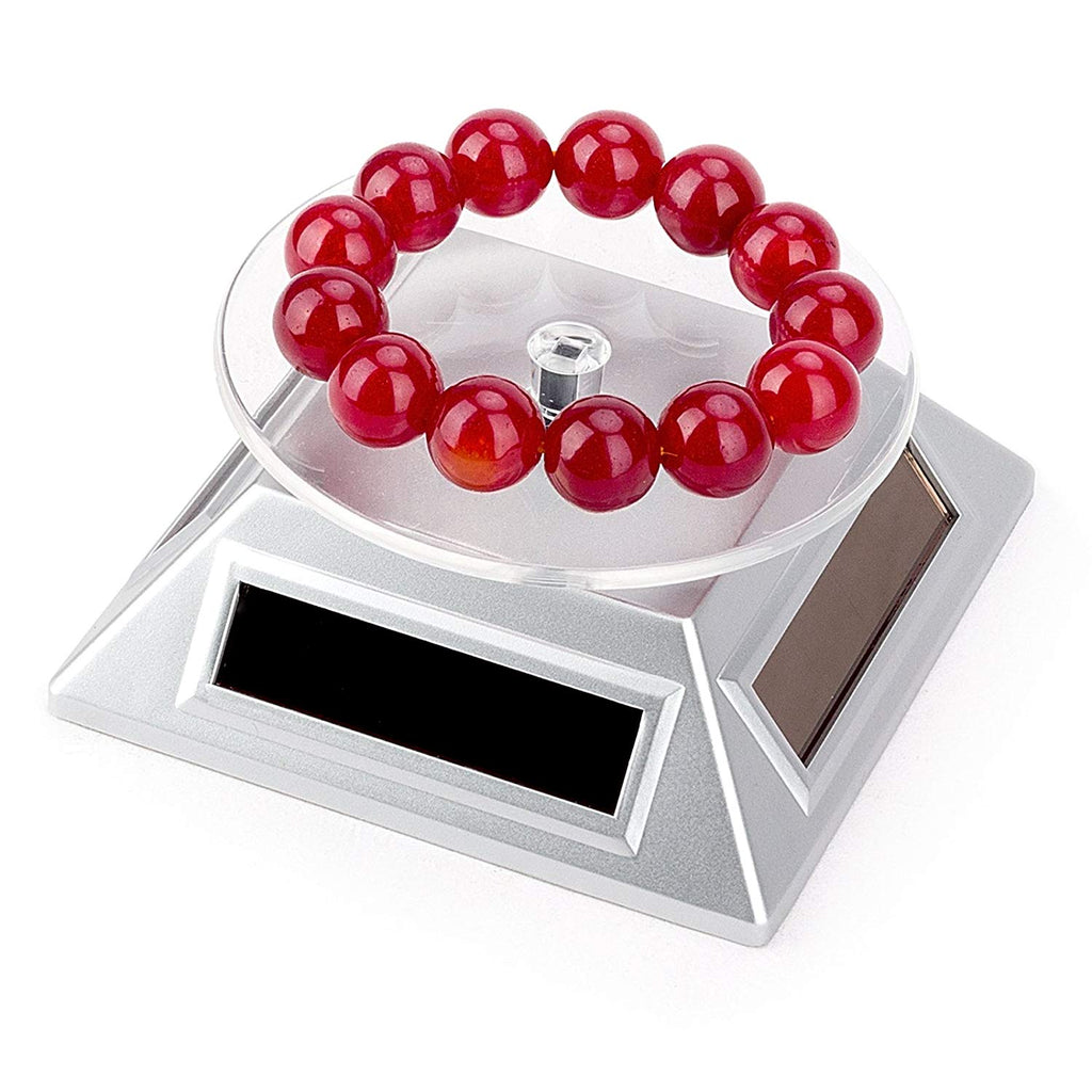 Leadleds Rotating Display Stand Jewelry Turntable by Solar Energy and Battery Operated, 2-Pack - Leadleds