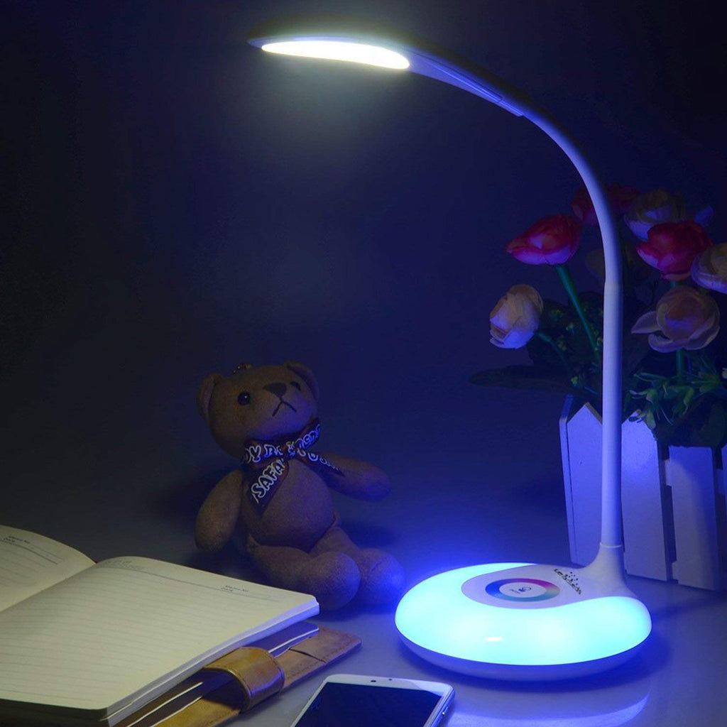 Leadleds Desk Lamps Book Reading Lights with Touch-Sensitive Control Panel, 256 Color Changing Base, USB Rechargeable LED Bedside Lamps Night Light - Leadleds